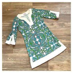 Jude Connally Holly Paisley Print Tunic Mini Dress